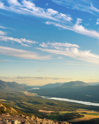 Summer Sky From Swansea Mountain, Invermere, British Columbia - Art Print
