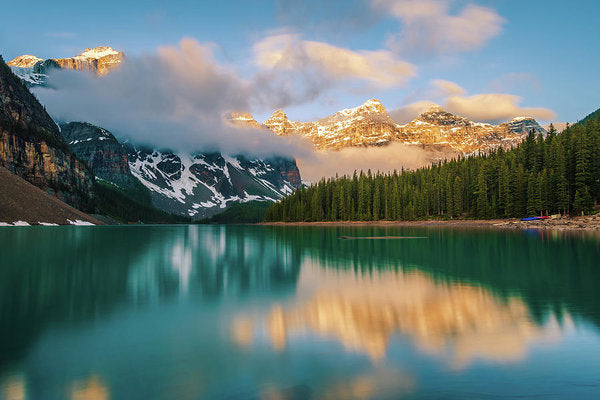 Ten Peaks Reflected In Moraine Lake, Banff - Art Print