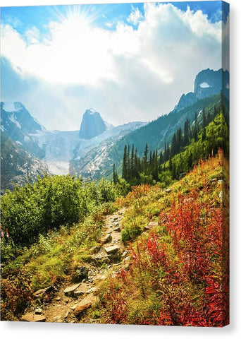 The Bugaboos In Autumn, British Columbia - Canvas Print
