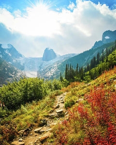 The Bugaboos In Autumn, British Columbia - Art Print