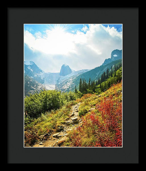 The Bugaboos In Autumn, British Columbia - Framed Print