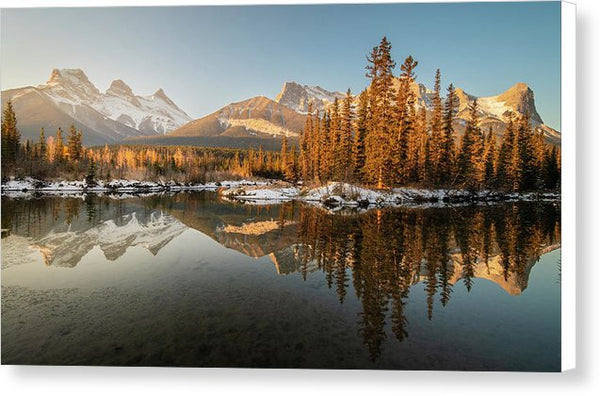 Three Sisters Mountains, Canmore, Alberta - Canvas Print