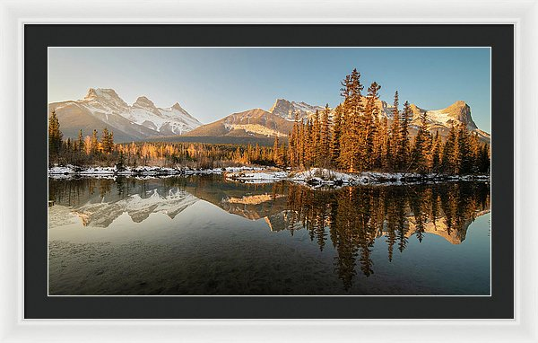 Three Sisters Mountains, Canmore, Alberta - Framed Print