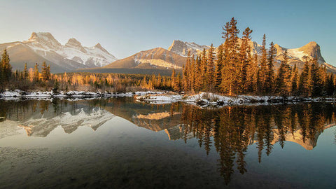 Three Sisters Mountains, Canmore, Alberta - Art Print