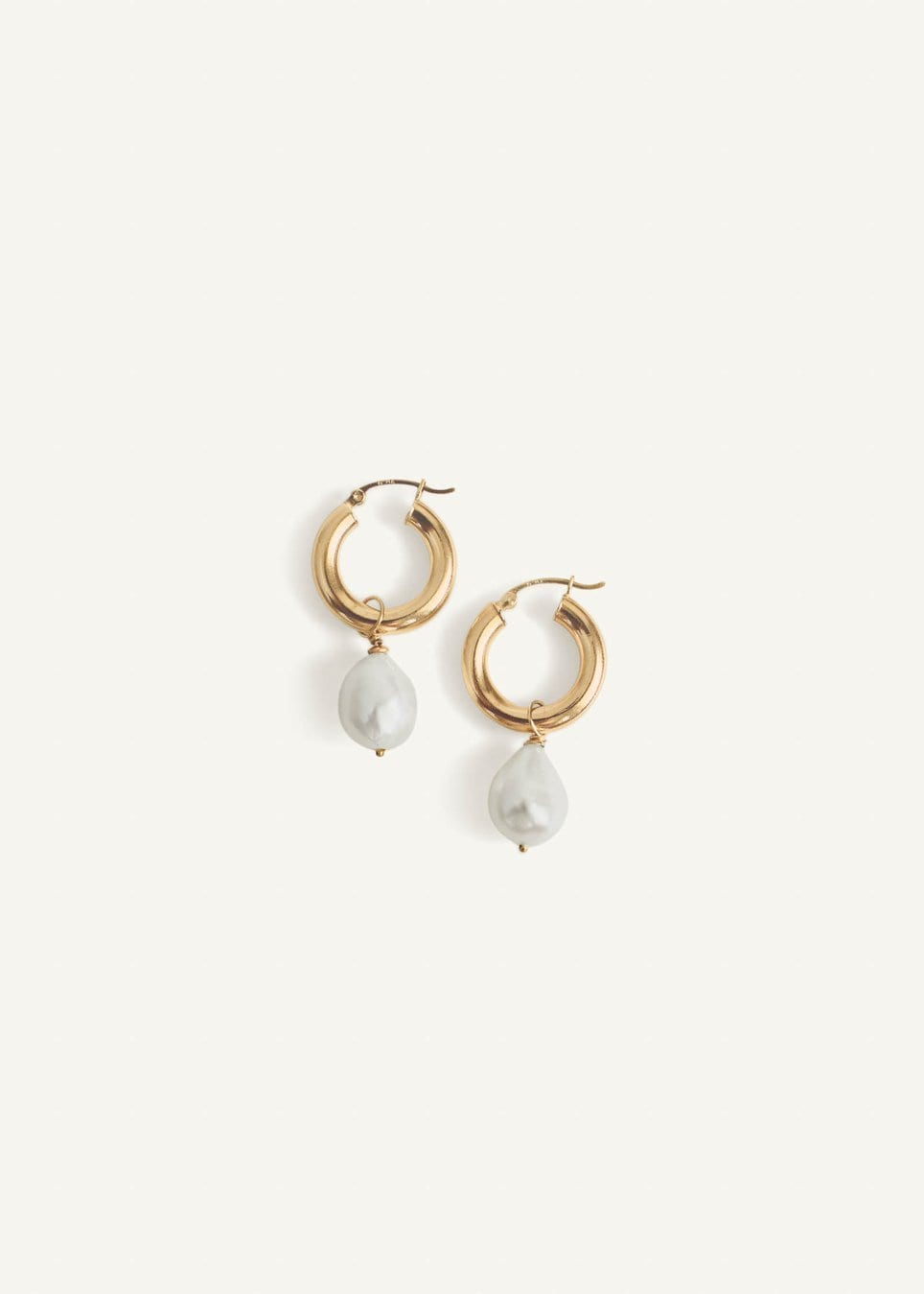 Baroque Pearl Hoop Earrings / Neighborhood Goods