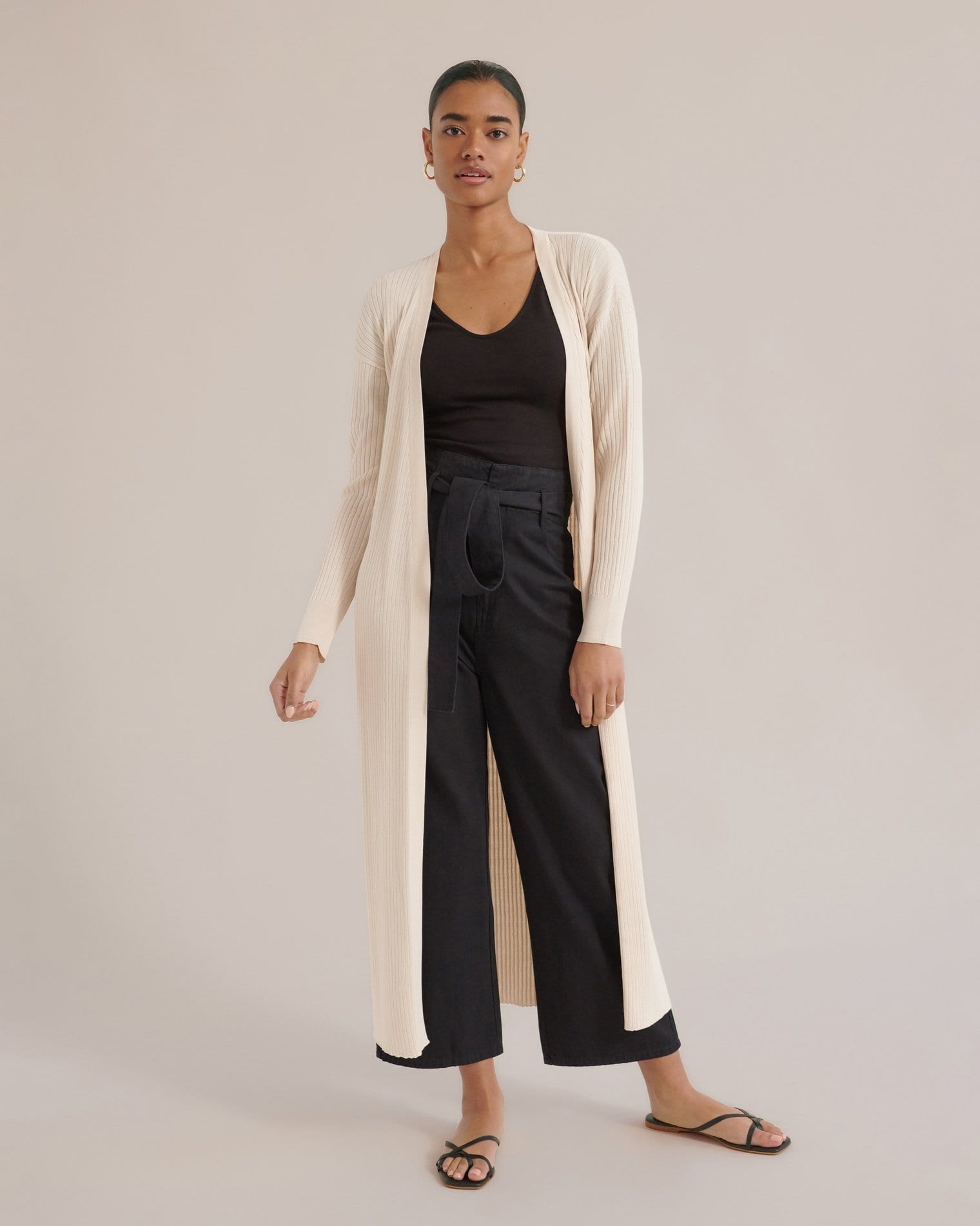 Callie Long Open-Front Cardigan / Neighborhood Goods