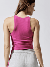 Load image into Gallery viewer, CARBON38 High Neck Ruched Tank / Neighborhood Goods