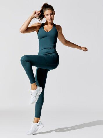CARBON38 High Rise Full-Length Legging With Pockets In Cloud Compression / Neighborhood Goods