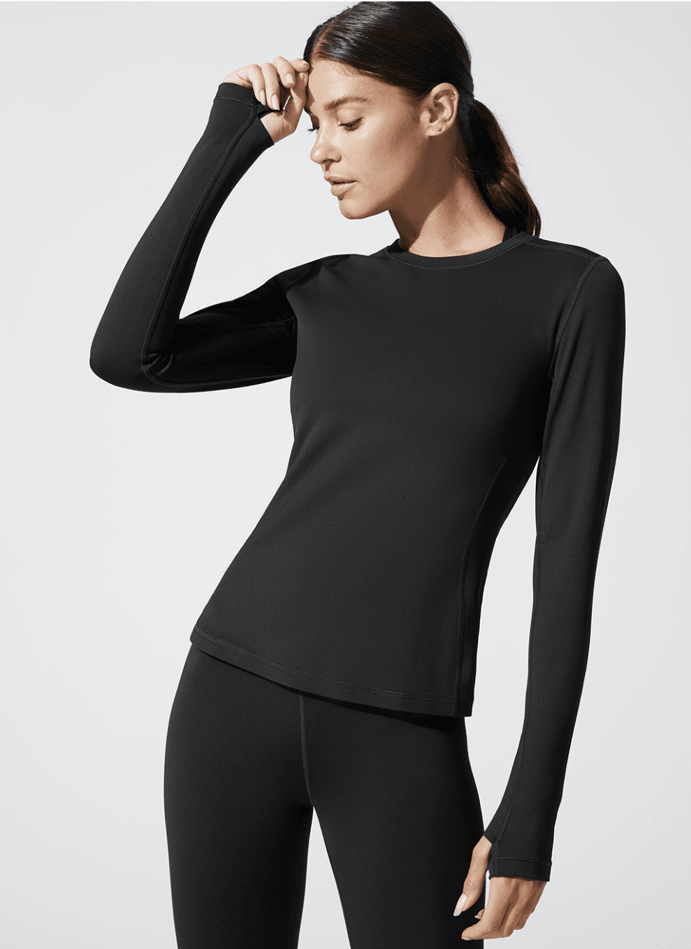 CARBON38 Long Sleeve Top in Diamond Compression / Neighborhood Goods