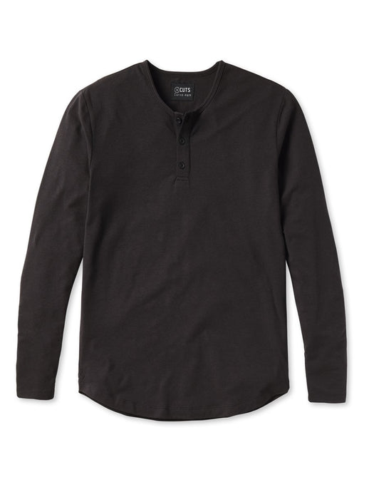 CUTS L/S Henley Curve-Hem / Neighborhood Goods