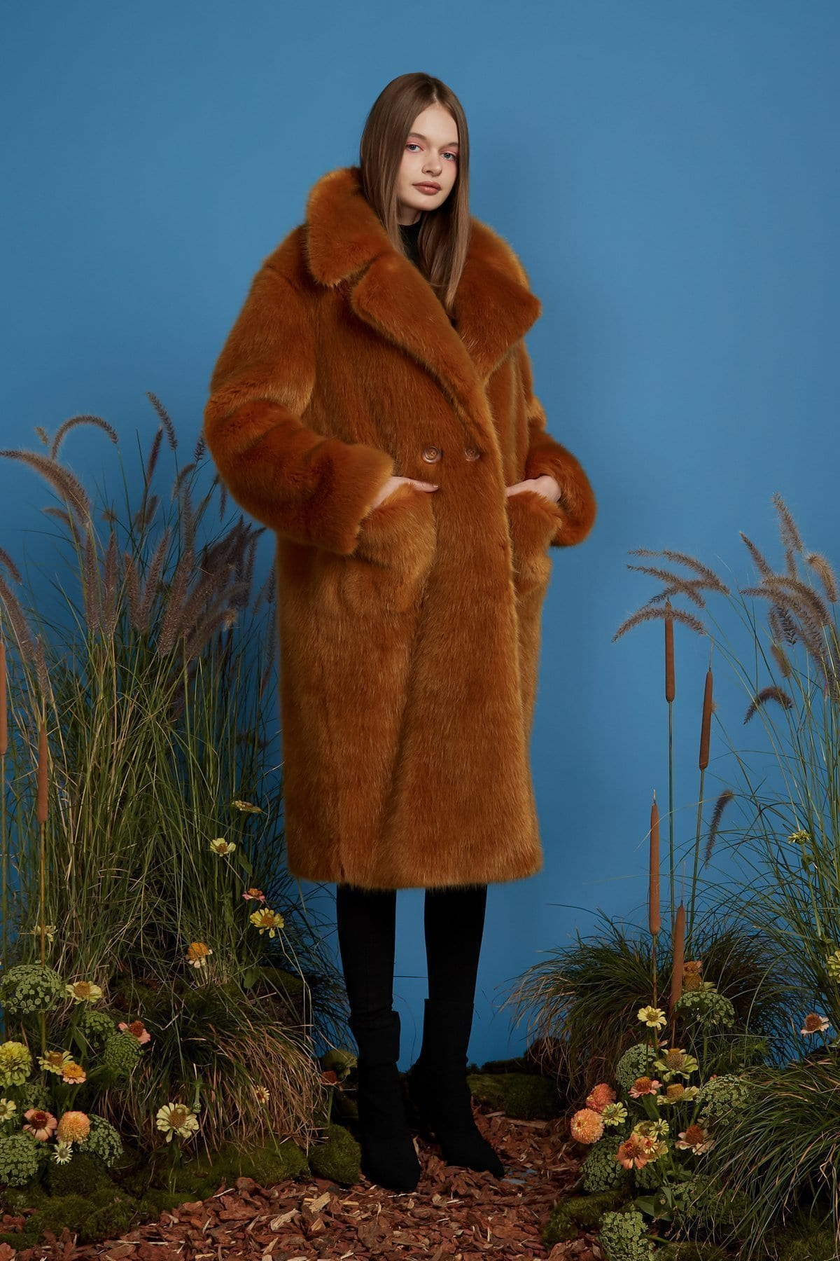 Emory Bee Super Luxe Faux Fur Coat / Neighborhood Goods