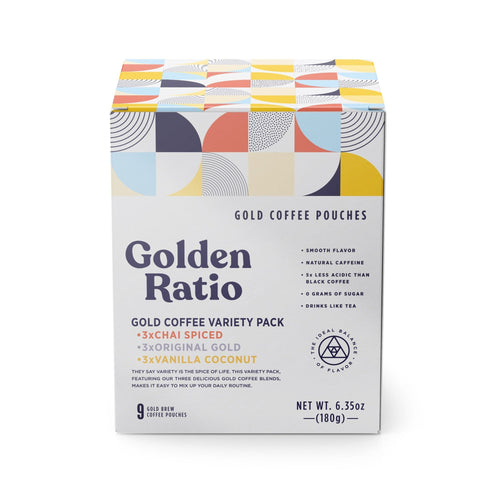 Golden Ratio Gold Coffee Pouch Variety Pack / Neighborhood Goods