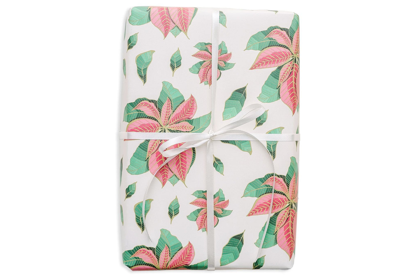 Good Juju Ink Nouveau Poinsettia Gift Wrap Roll / Neighborhood Goods