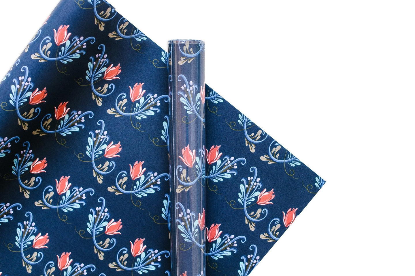 Good Juju Ink Rosemaling Norse Blue Gift Wrap / Neighborhood Goods