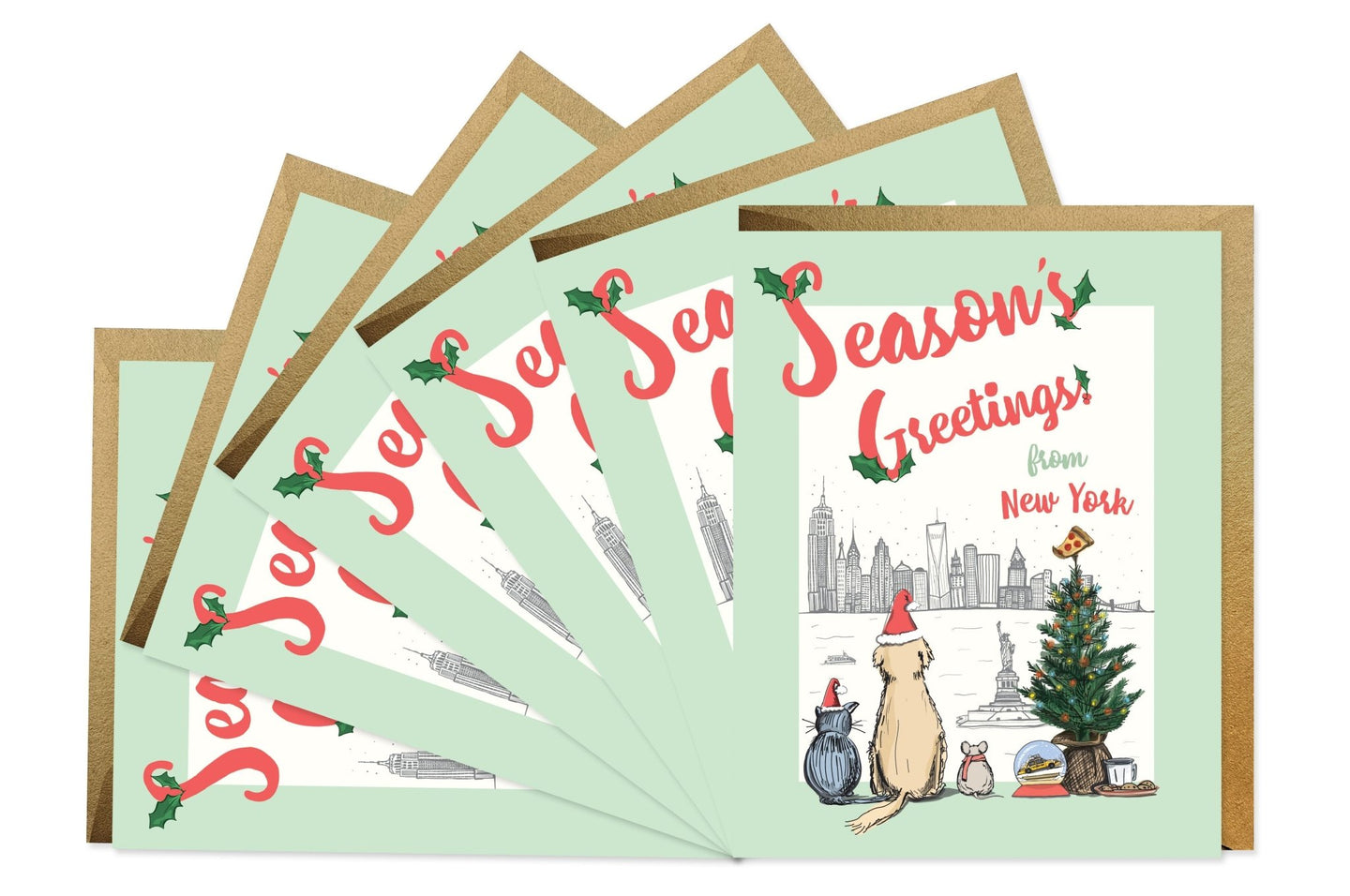 Good Juju Ink Season's Greetings from New York Boxed Set of 6 / Neighborhood Goods