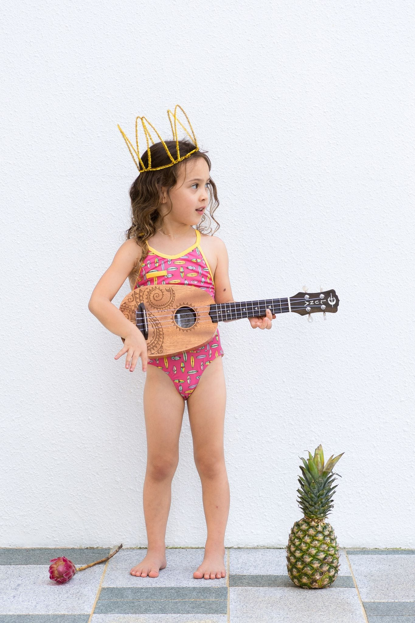 King of Redonda Ayla Raspberry Surf Full Piece Swim Suit / Neighborhood Goods