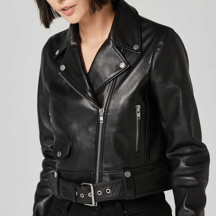 Leather Biker Jacket / Neighborhood Goods