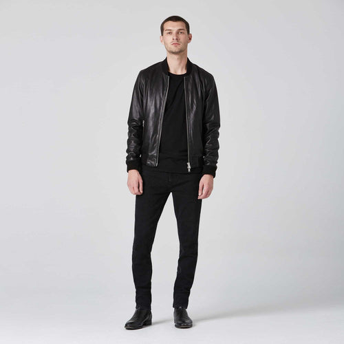 Leather Bomber Jacket / Neighborhood Goods