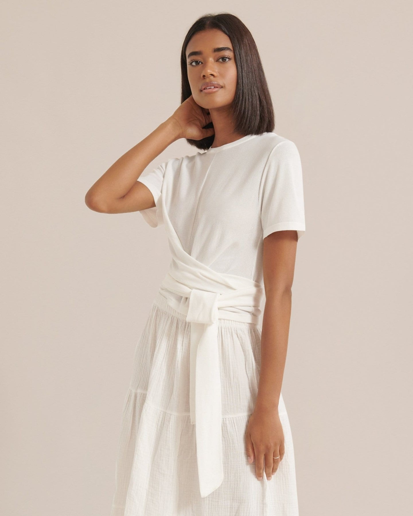 Modern Citizen Jude Short Sleeve Wrap Blouse / Neighborhood Goods