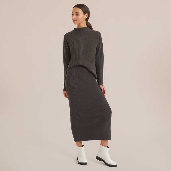 Modern Citizen Keira Ribbed Knit Skirt / Neighborhood Goods