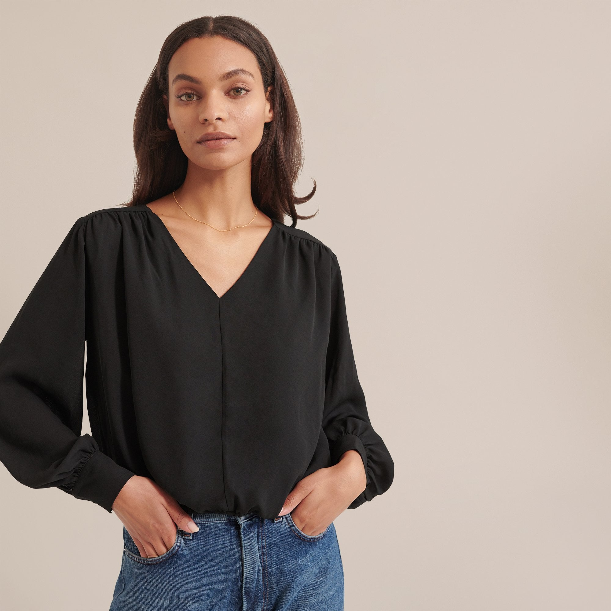 Modern Citizen Layne Billow Sleeve Blouse / Neighborhood Goods