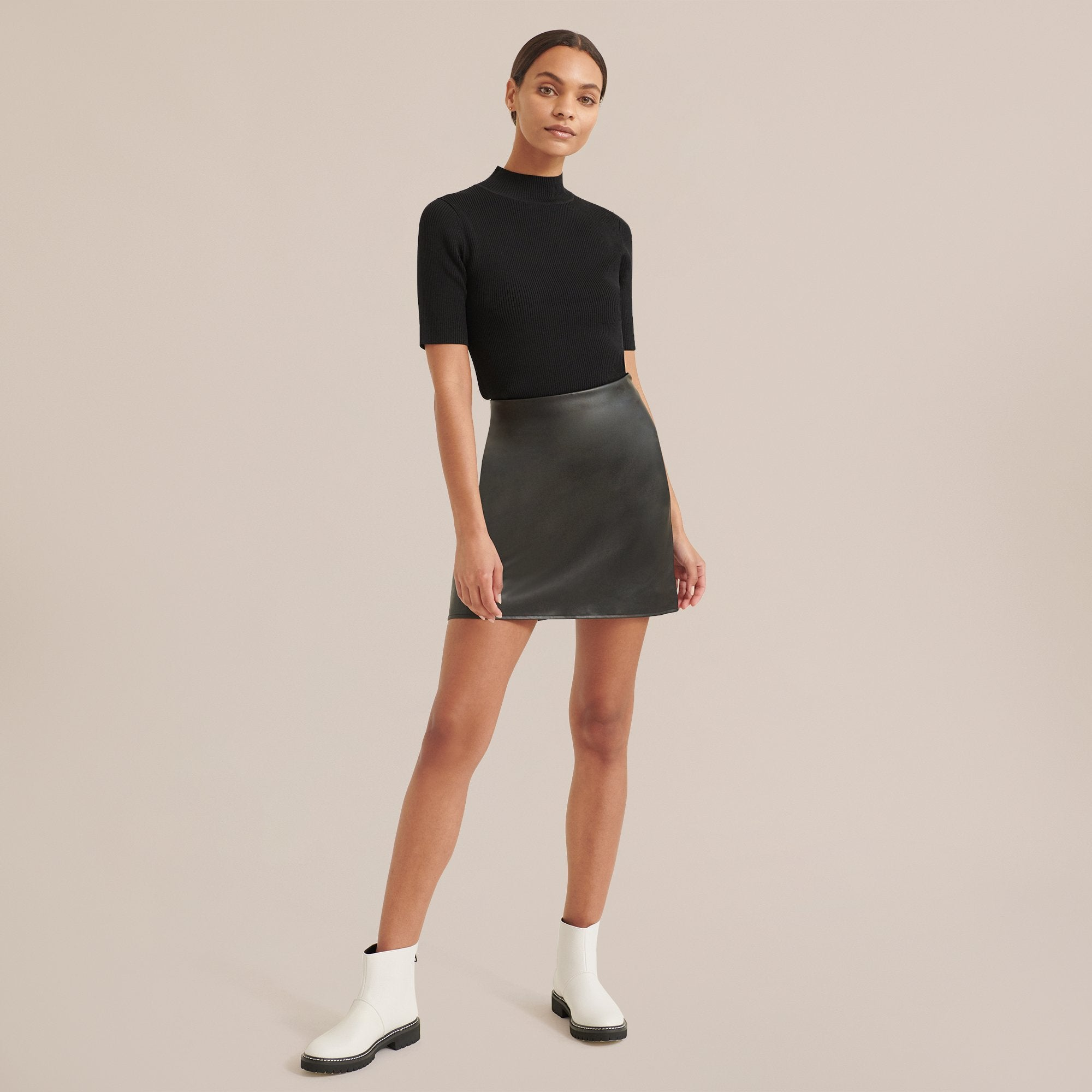 Modern Citizen Nomi Faux-Leather Mini Skirt / Neighborhood Goods