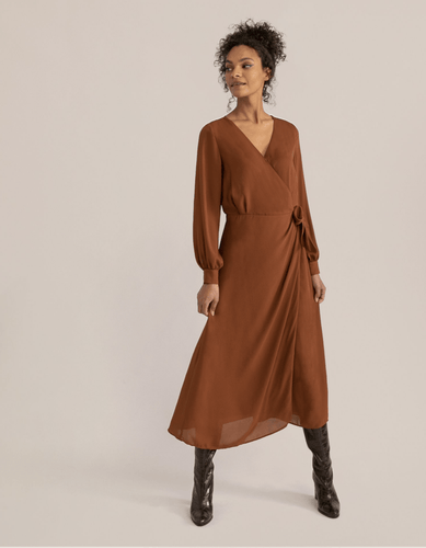 Modern Citizen Sierra Tie-Waist Wrap Dress / Neighborhood Goods