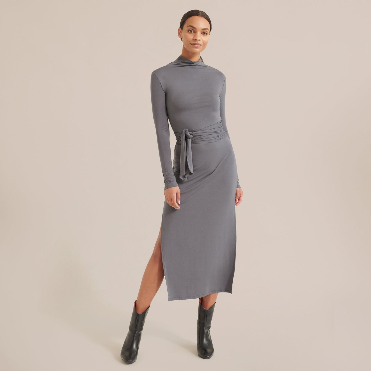 Modern Citizen Troian Long Sleeve Tie-Front Dress / Neighborhood Goods
