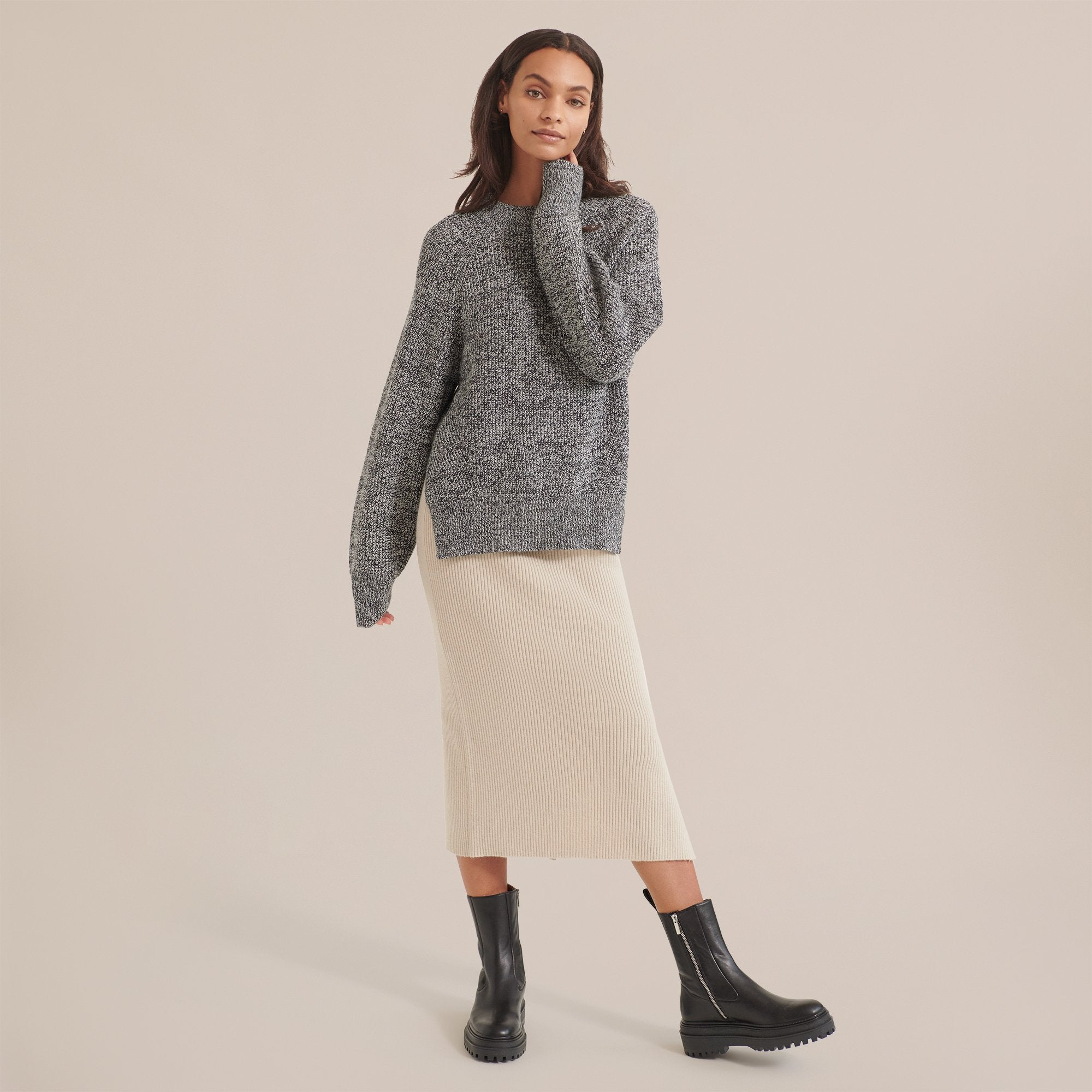 Modern Citizen Victoria Marled Boyfriend Sweater / Neighborhood Goods