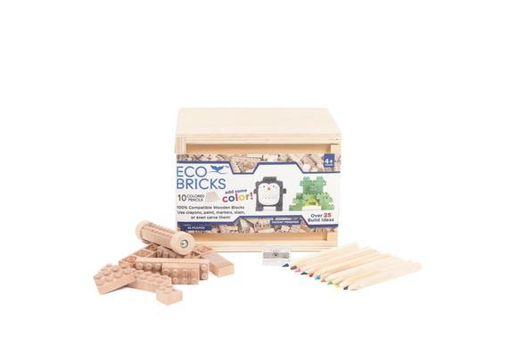 Once Kids Eco-bricks 45 Piece 10 Color Pencils / Neighborhood Goods