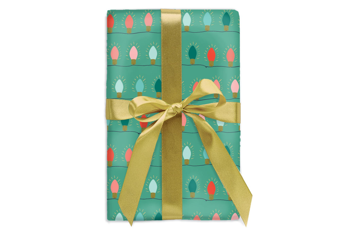 Green String Lights Gift Wrap Roll
