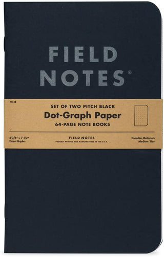 Pitch Black Note Book 2-Pack / Neighborhood Goods