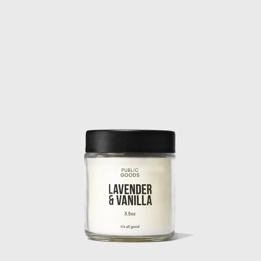 Public Goods Lavender & Vanilla Scented Candle / Neighborhood Goods