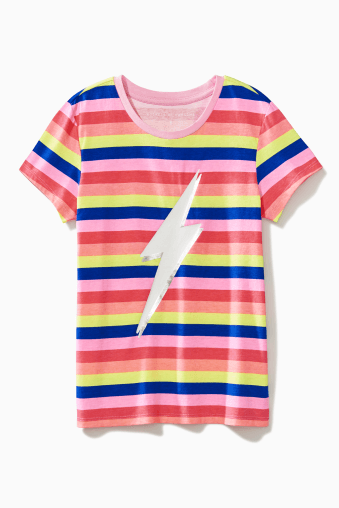 Rainbow Stripe Bolt Tee / Neighborhood Goods
