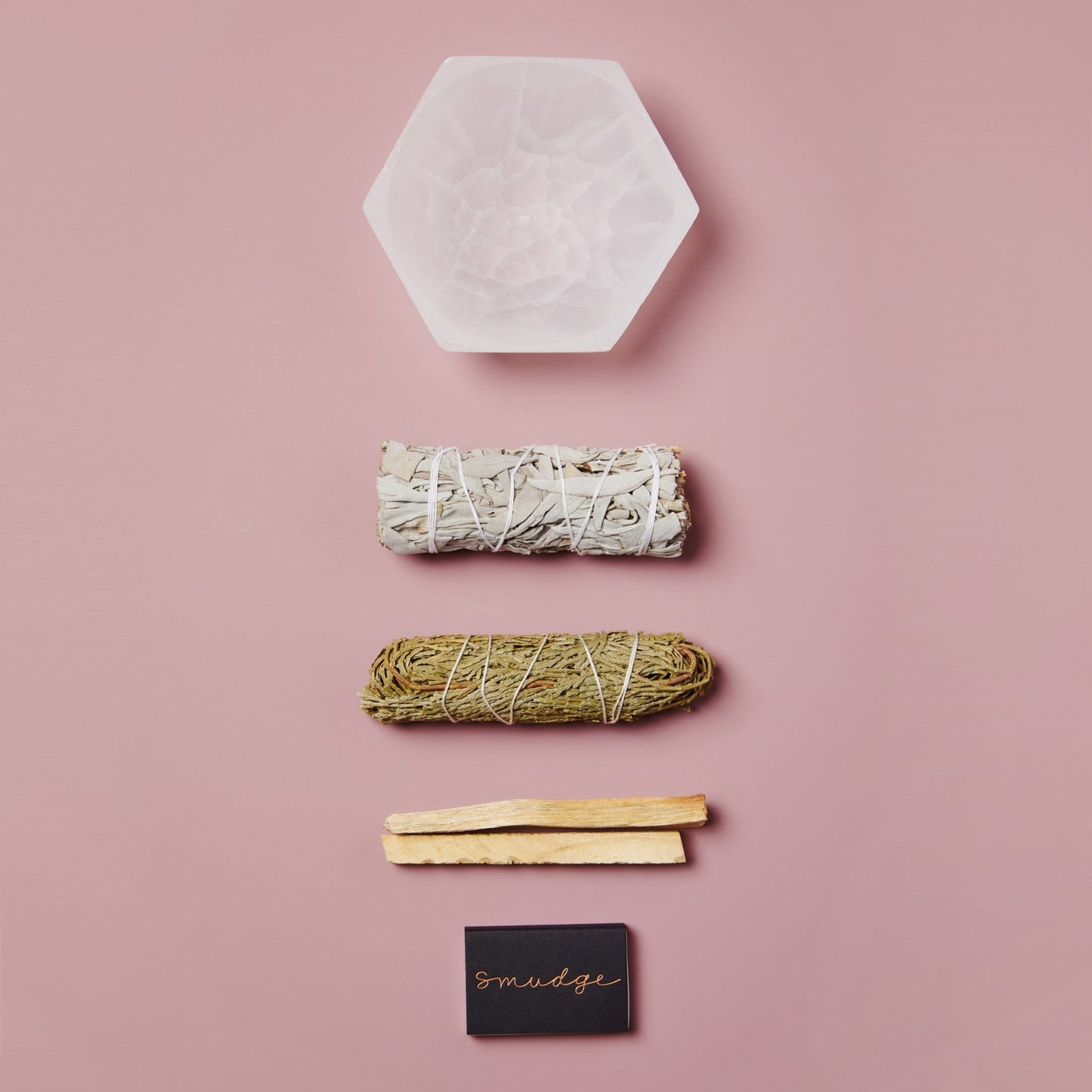 Smudge Wellness Selenite Smudging Trio / Neighborhood Goods