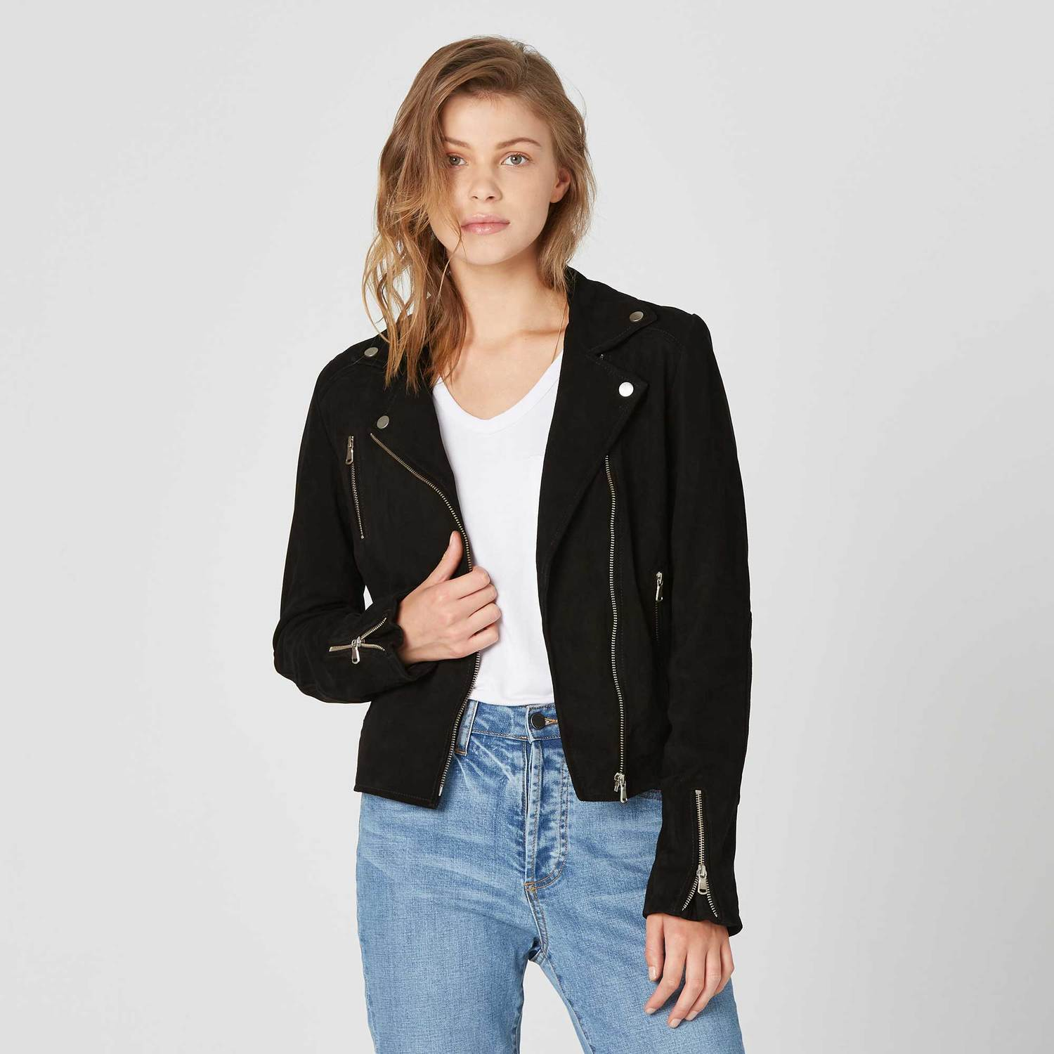 Suede Moto Jacket / Neighborhood Goods