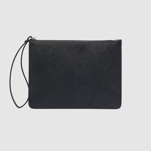 The Daily Edited Black Structured pouch with wrist strap / Neighborhood Goods