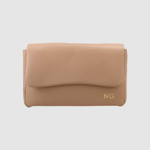 The Daily Edited Taupe Smooth Pillow Clutch / Neighborhood Goods