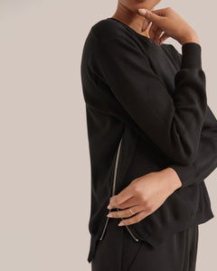 Yara Side-Zip Sweater / Neighborhood Goods