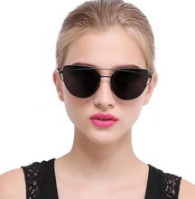 BLACK AVIATOR CATEYE