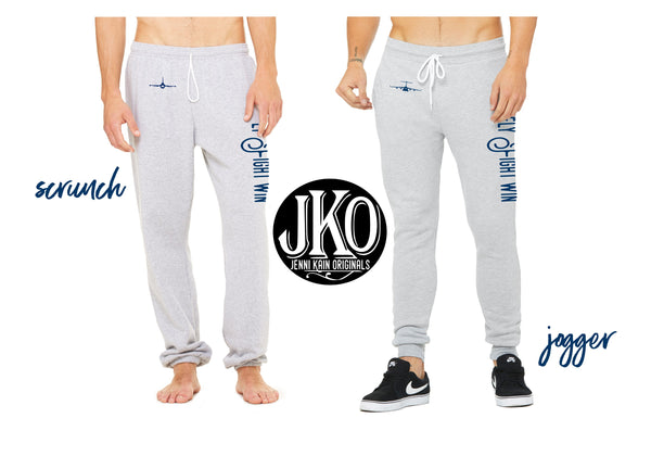 Fly Fight Win Sweatpants (Scrunch/ Jogger) [2 colors avail. in all airframes]