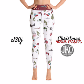 2018 Christmas Yoga Pants- C130j