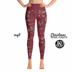 2018 Christmas Yoga Pants- MQ9 RED