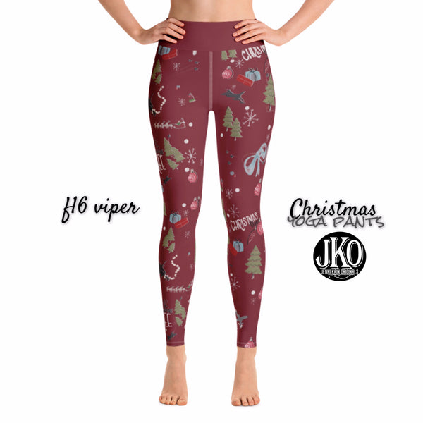 2018 Christmas Yoga Pants- F16  RED