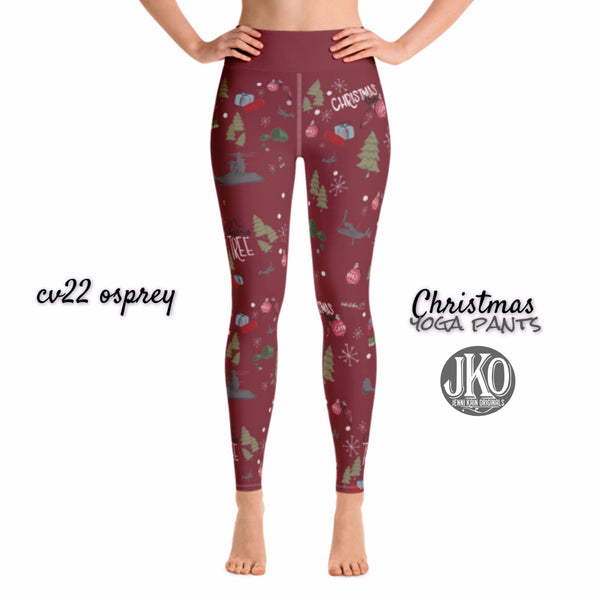 2018 Christmas Yoga Pants- CV22 RED