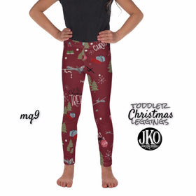 2018 Christmas Leggings ( toddler and youth)- MQ9 RED