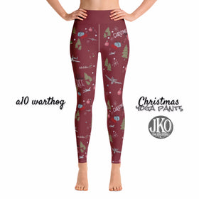 2018 Christmas Yoga Pants- A10 RED