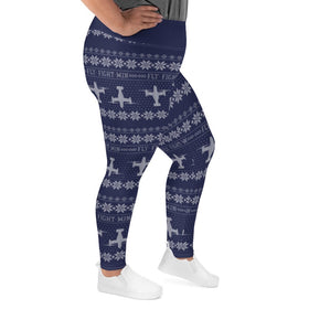 CV-22 Cross Stitch Yoga Pants [ Plus Size] 2019 Design. [ 3 Colors Avail.]