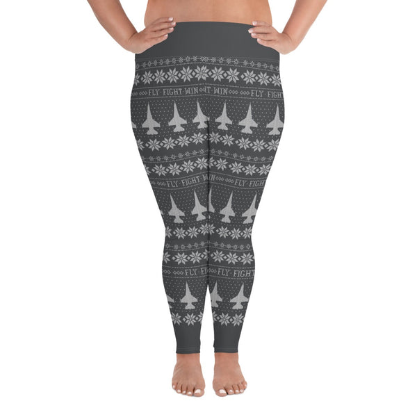 F-16 Cross Stitch Yoga Pants [ Plus Size] 2019 Design. [ 3 Colors Avail.]