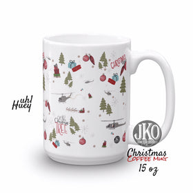 2018 Christmas coffee mug. UH1 Huey